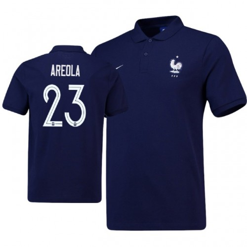 38a60c161 France Alphonse Areola  23 Home Jersey NAVY - 2018 World Cup