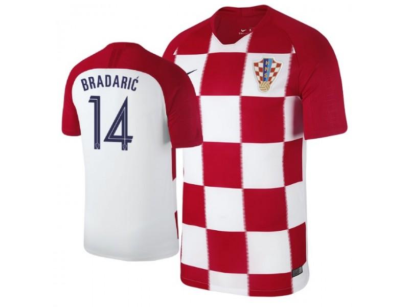 064ed9ba5f3 Croatia Filip Bradaric #14 Jersey RED - 2018 World Cup