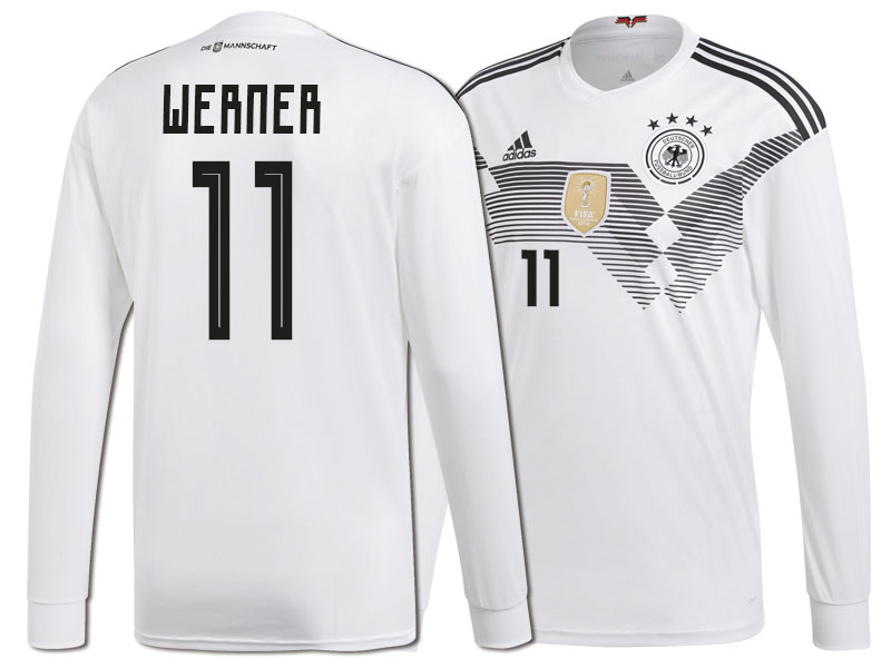 online retailer afd55 3801f Germany Timo Werner #11 World Cup 2018 Long Sleeve HOME ...
