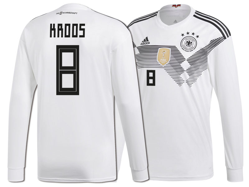 ed90d58d Germany Toni Kroos #8 World Cup 2018 Long Sleeve HOME Jersey - WHITE