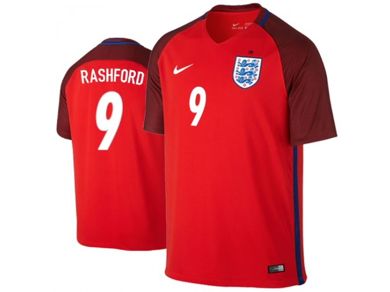 more photos 3bbeb 7ac16 England Marcus Rashford #9 Jersey RED - 2018 World Cup