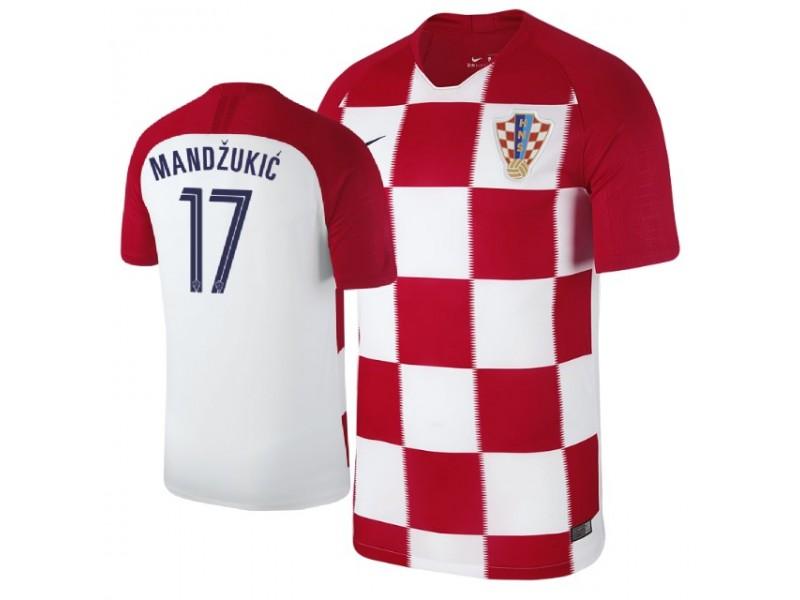 3d52cbce8 Croatia Mario Mandzukic #17 Jersey RED - 2018 World Cup