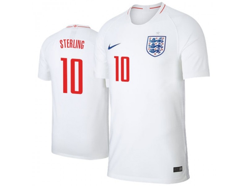 46f7d63a5 England Raheem Sterling  10 Jersey WHITE - 2018 World Cup
