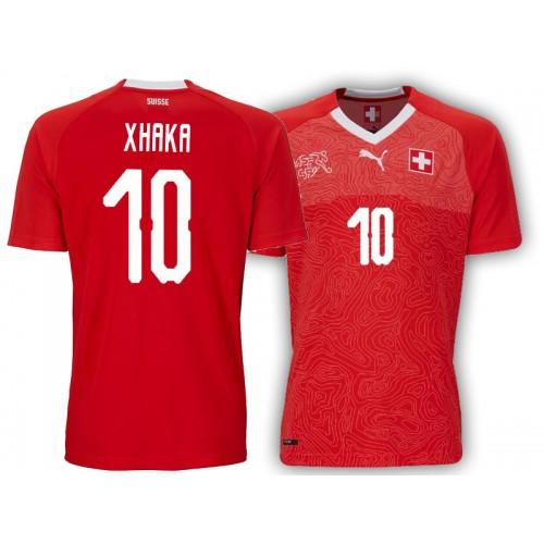 4f456fd2d60 Switzerland Granit Xhaka  10 Jersey RED - 2018 World Cup