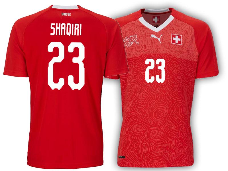 060f3a8029d Switzerland Xherdan Shaqiri #23 Jersey RED - 2018 World Cup