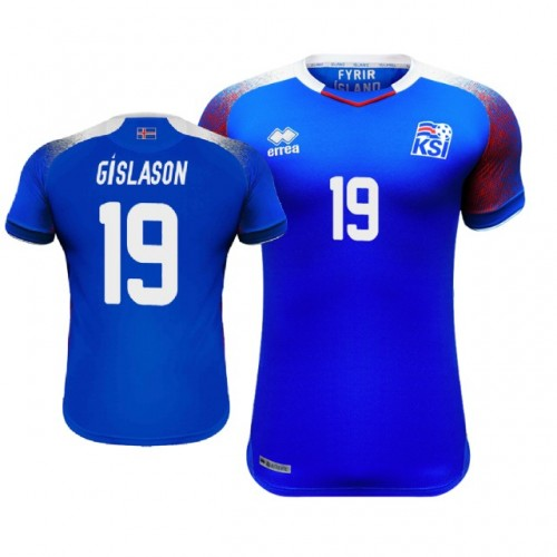 3ad23f492 Iceland Rurik Gislason  19 Jersey BLUE - 2018 World Cup