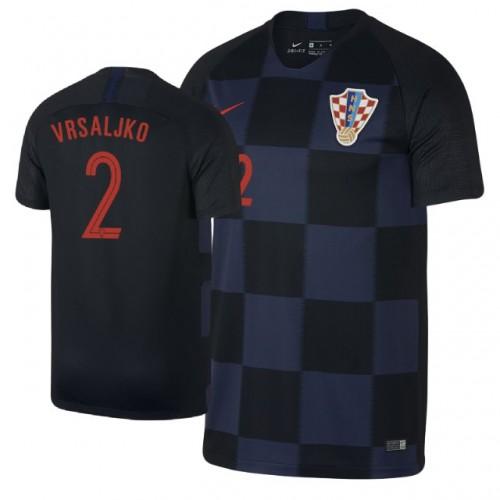 Croatia Sime Vrsaljko  2 Jersey NAVY - 2018 World Cup 4f42f5f1a