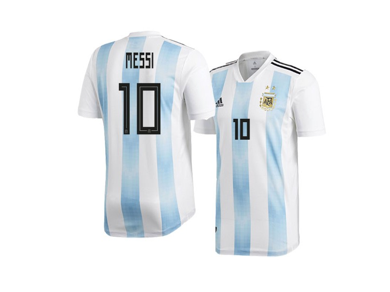 finest selection fc3dc 68085 Argentina Lionel Messi #10 2018 World Cup HOME Jersey ...