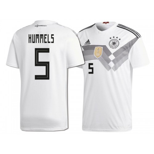 best service 22219 6c905 Germany Mats Hummels #5 2018 World Cup HOME Jersey - WHITE
