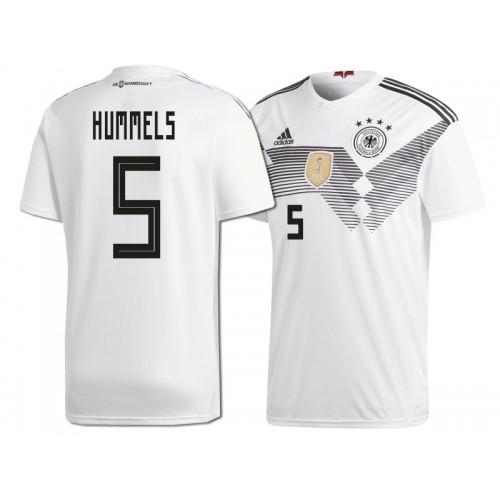 a0a953f3d81d Germany Mats Hummels  5 2018 World Cup HOME Jersey - WHITE