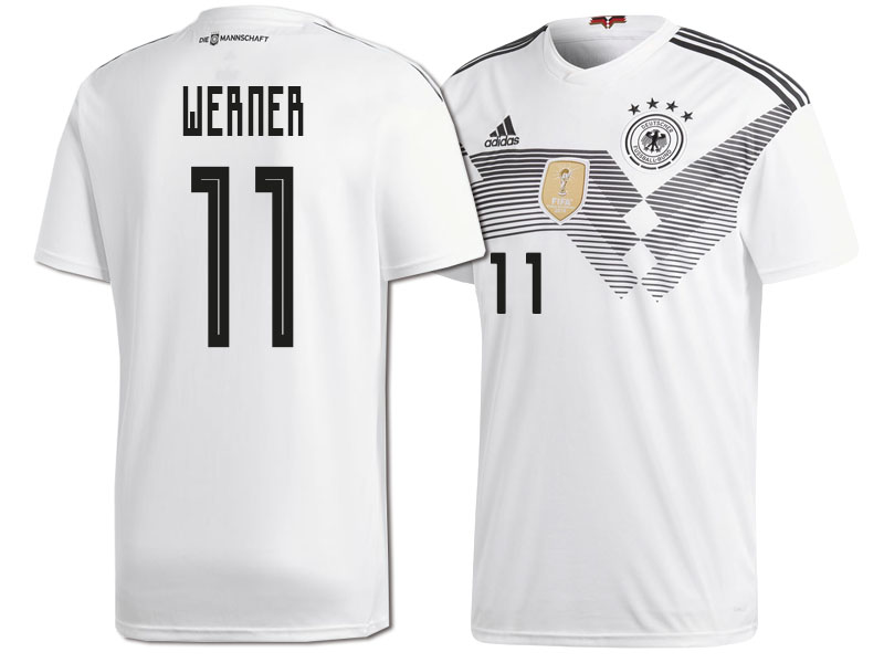 sale retailer e9c63 25867 Germany Timo Werner #11 2018 World Cup HOME Jersey - WHITE
