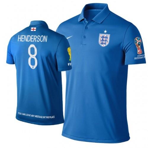 buy online 31068 a3e1c England #8 Jordan Henderson Trophy Logo Polo Jersey ROYAL ...