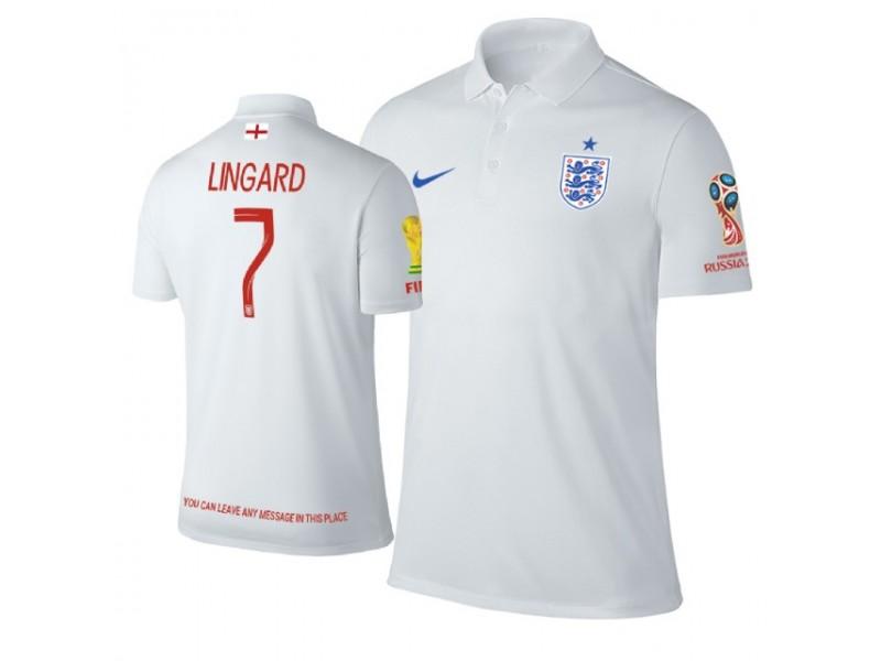 huge selection of 89f00 e827e England #7 Jesse Lingard Trophy Logo Polo Jersey WHITE ...