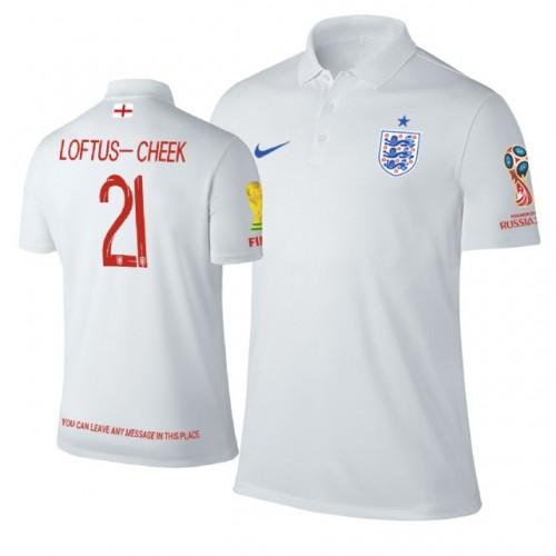 492df0a5d England 2018 World Cup  21 Ruben Loftus-Cheek Trophy Logo Polo Jersey WHITE