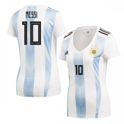 bdc85b7c8 Women Argentina Lionel Messi  10 2018 World Cup HOME Jersey - WHITE ...