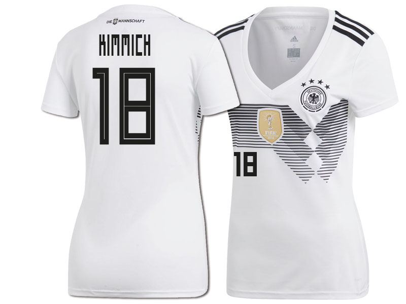 huge selection of 9f6ce b5ba8 Women Germany Joshua Kimmich #18 2018 World Cup HOME Jersey ...