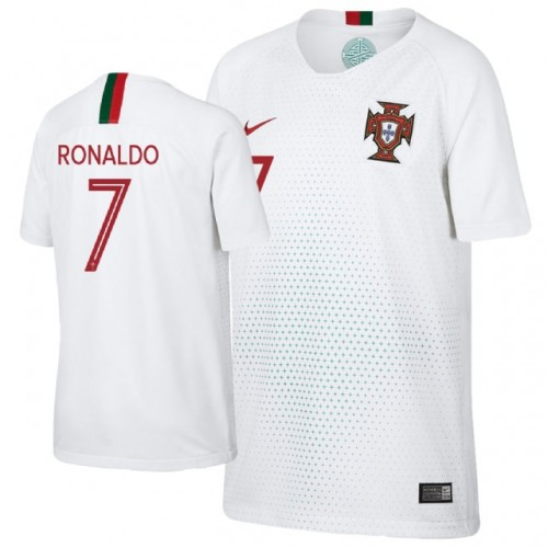 aa3cd712 Kid's Portugal Cristiano Ronaldo #7 Away Jersey WHITE - 2018 World Cup
