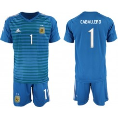 2019/20 Argentina 1 CABALLERO Blue Goalkeeper Authentic Soccer Jersey