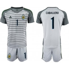 2019/20 Argentina 1 CABALLERO Gray Goalkeeper Authentic Soccer Jersey