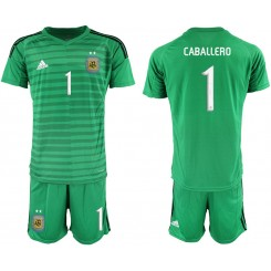 2019/20 Argentina 1 CABALLERO Green Goalkeeper Authentic Soccer Jerseys