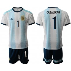 2019/20 Argentina 1 CABALLERO Home Authentic Soccer Jersey