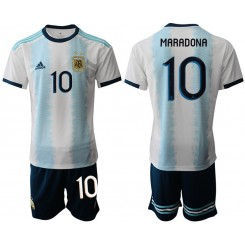 2019/20 Argentina 10 MARADONA Home Authentic Soccer Jersey