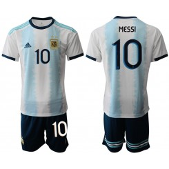 2019/20 Argentina 10 MESSI Home Authentic Soccer Jersey