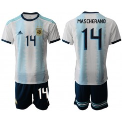 2019/20 Argentina 14 MASCHERANO Home Authentic Soccer Jersey
