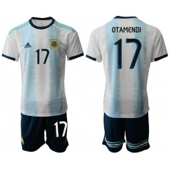 2019/20 Argentina 17 OTAMENDI Home Authentic Soccer Jersey