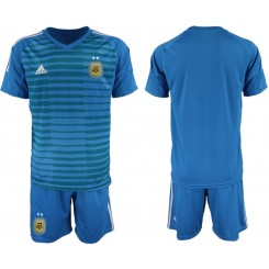 YOUTH 2019/20 Argentina Blue Goalkeeper Replica Soccer Jersey