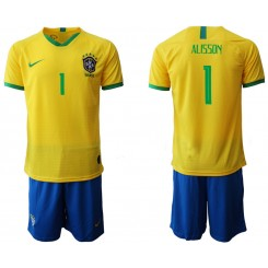 2019/20 Brazil 1 ALISSON Home Authentic Soccer Jersey
