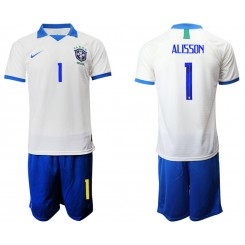 2019/20 Brazil 1 ALISSON White Special Edition Authentic Soccer Jersey