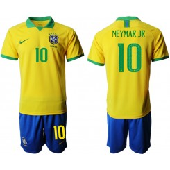 2019/20 Brazil 10 NEYMAR JR Home Authentic Soccer Jersey