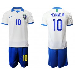 2019/20 Brazil 10 NEYMAR JR White Special Edition Authentic Soccer Jersey