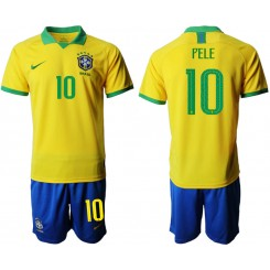 2019/20 Brazil 10 PELE Home Authentic Soccer Jersey