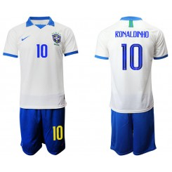 2019/20 Brazil 10 RONALDINHO White Special Edition Authentic Soccer Jersey