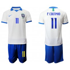 2019/20 Brazil 11 P. COUTINHO White Special Edition Authentic Soccer Jersey