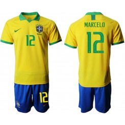 2019/20 Brazil 12 MARCELO Home Authentic Soccer Jersey