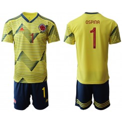 2019/20 Colombia 1 OSPINA Home Authentic Soccer Jersey