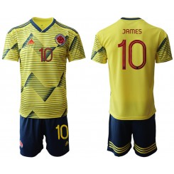 2019/20 Colombia 10 JAMEZ Home Authentic Soccer Jersey