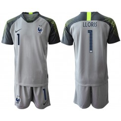 2019/20 France 1 LLORIS Gray Goalkeeper Authentic Soccer Jersey