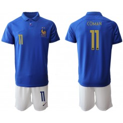 2019/20 France 11 COMAN 100th Commemorative Edition Authentic Soccer Jersey