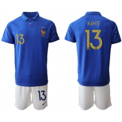 YOUTH 2019/20 France 13 KANTE 100th Commemorative Edition Authentic Soccer Jersey