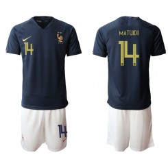 YOUTH 2019/20 France 14 MATUIDI Home Authentic Soccer Jersey