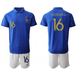 YOUTH 2019/20 France 16 MANDANDA 100th Commemorative Edition Authentic Soccer Jersey