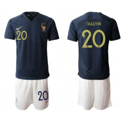 2019/20 France 20 THAUVIN Home Authentic Soccer Jersey