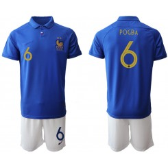 2019/20 France 6 POGBA 100th Commemorative Edition Authentic Soccer Jersey
