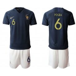 2019/20 France 6 POGBA Home Authentic Soccer Jersey