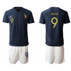 2019/20 France 9 GIROUD Home Authentic Soccer Jersey