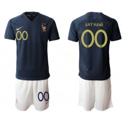 2019/20 France Customized Home Authentic Soccer Jersey